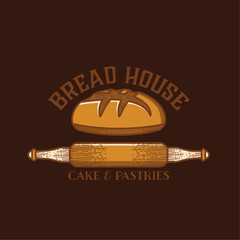 Bakery logos with fresh bread