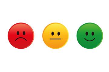 bewertung smiley buttons 3er Set