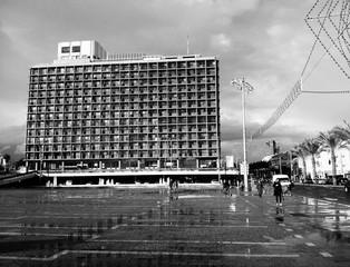 Tel-Aviv City Hall on a Sunny Rainy Day