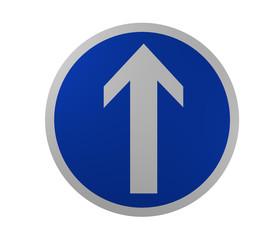 Verkehrszeichen: Vorgeschriebene Fahrtrichtung, geradeaus