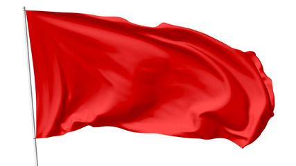 Red flag on flagpole