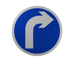 Verkehrszeichen: Vorgeschriebene Fahrtrichtung, rechts