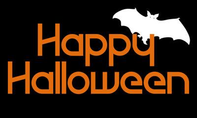 Happy Halloween with White Bat