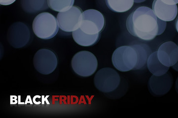 Black Friday with light blur background
