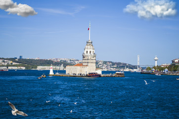 the maiden's tower in istanbul turkey