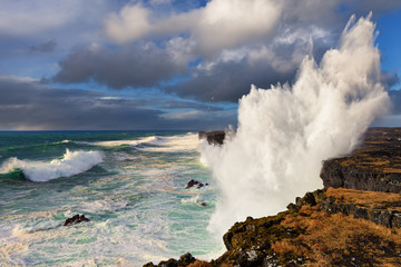 Amazing waves at the Snaefellsnes coast