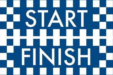 start ve finish banner