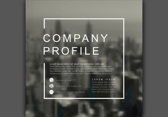 Square Company Profile Cover Layout 1