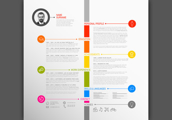 Square Digital Resume Layout 1