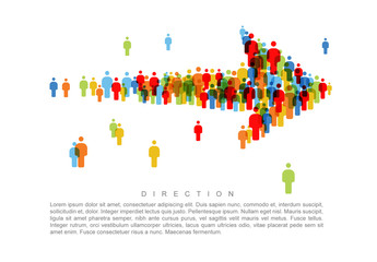 Direction People Icon Arrow Infographic