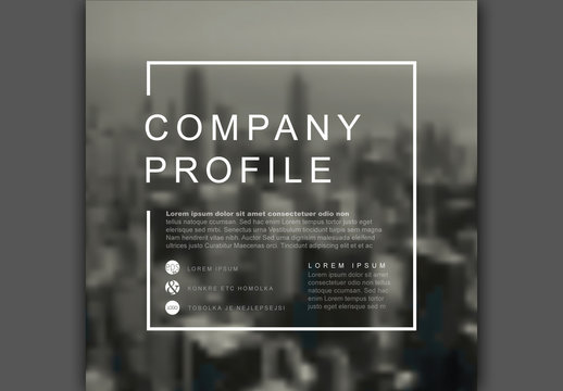 Square Company Profile Cover Layout 1