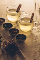 Cups of Tea With Cinnamon Sticks