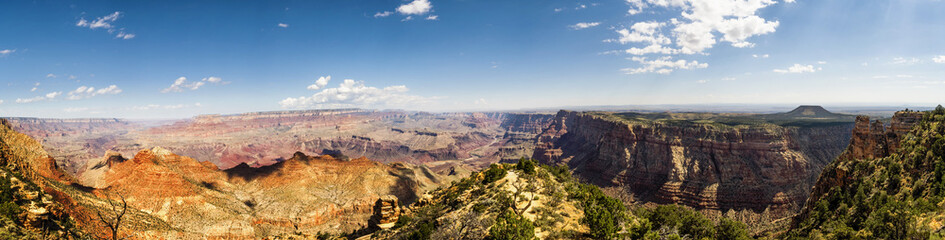 Panorama: Watchtower Desert View Point - Grand Canyon, South Rim - Arizona, AZ, USA