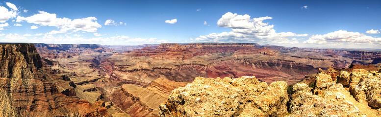 Panorama: Moran Point - Grand Canyon, South Rim - Arizona, AZ, USA