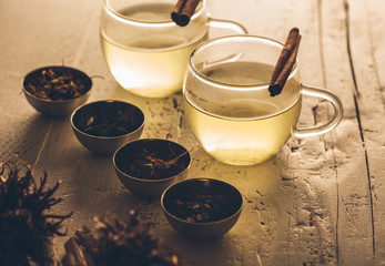 Tea Served With Cinnamon Sticks