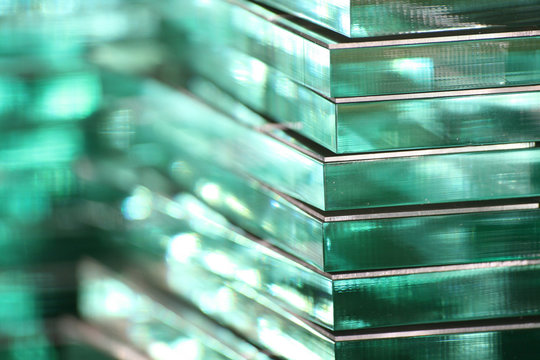 Stacks of Green Glass Acrylic