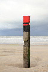 Beach post on a cloudy day