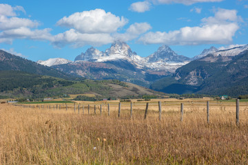 Wall Mural - View of Grand Teton mountain range from Idaho.
