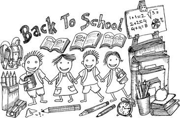 back to school, sketch
