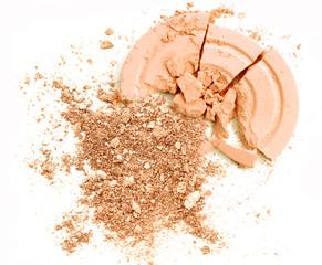 Color cosmetic powder color orange crushed make up blusher