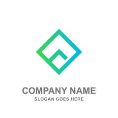 Geometric Rhombus House Real Estate Logo Vector Icon