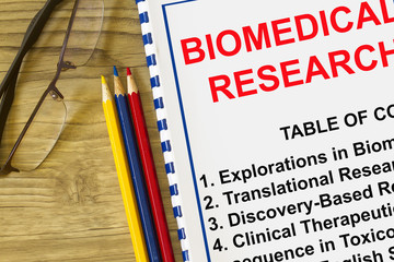 Biomedical research concept
