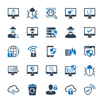 Cyber Security Icons - Blue Version