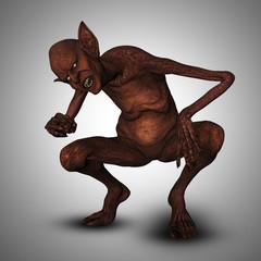 Fototapete - 3D evil creature