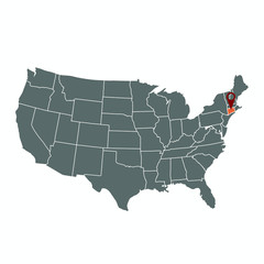 USA-connecticut-map-vector