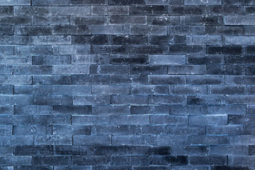 background -  dark blue brick wall