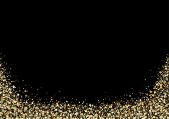 Luxury Background with Gold Stars Sparklers - Glittering Illustration, Vector