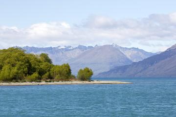 Lake Wakatipu on south Island - New Zealand