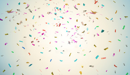 Party Background Colorful Glitter Confetti On White For Texture