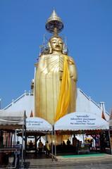 Big Standing Buddha at Wat Intharawihan temple in Bangkok, Thailand