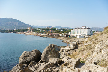 View of the city of Sudak, Crimea