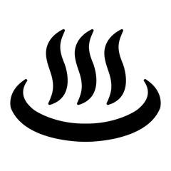 Japanese onsen ( hot spring) mark illustration