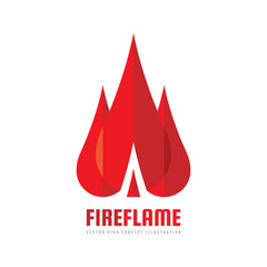 Fire flame - vector logo template concept illustration. Abstract creative sign. Design element.