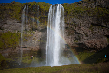 Iceland, waterfall in the South of the country