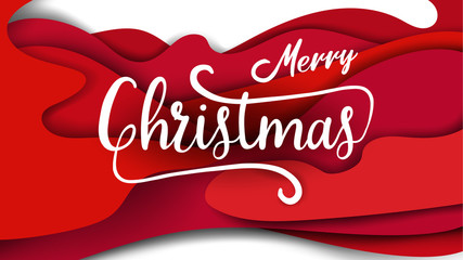 Merry Christmas and Happy New Year Typography and background greeting card. Seasonal lettering. background layout design banner template. vector illustration.