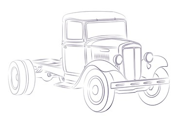 Sketch of old truck.
