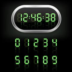 Digital alarm clock. Vector illustration.