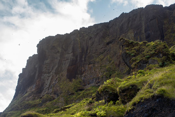 Iceland, high mountain cliff.. Beautiful landscape