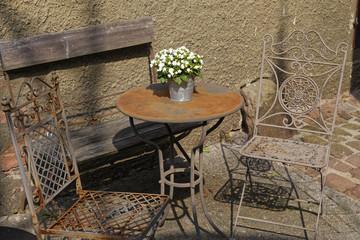 decorative vintage garden furniture