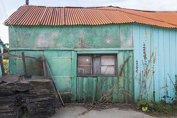 cabane d'ostréiculteur abandonnée Wall mural