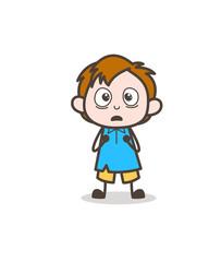 Worried Face - Cute Cartoon Kid Vector