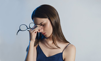 image of woman with eye glasses