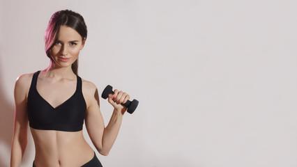image of beautiful woman. sport theme