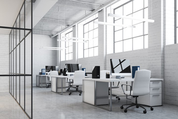 White brick open space office