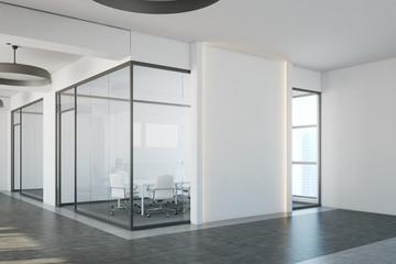 White office meeting room corner
