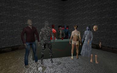 Halloween Party mit Zombies, Geistern und Monstern